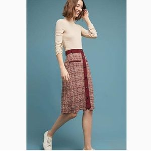 ANTHRO Harlyn Tweed Corduroy Button Skirt
